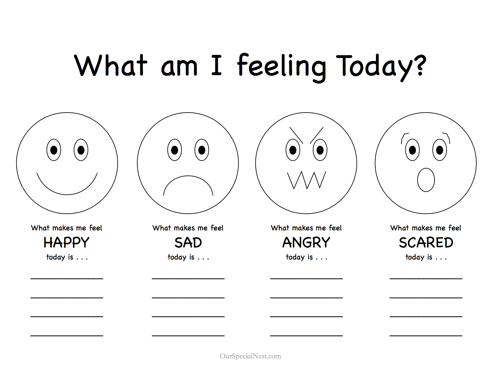 Feelings Pictures Today's feelings